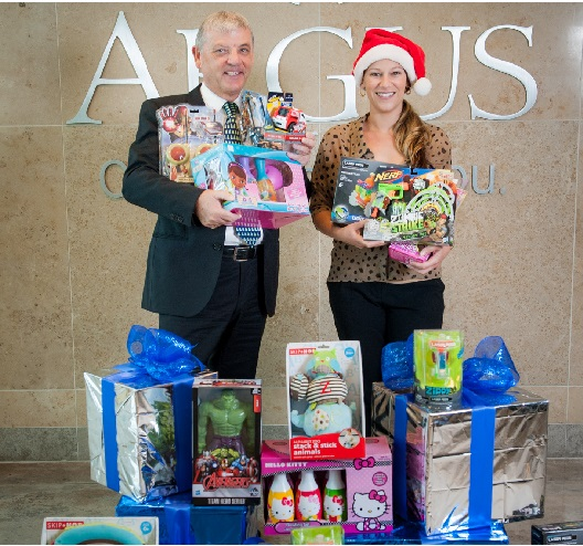 Argus Donates Toys to Toys for Tots banner