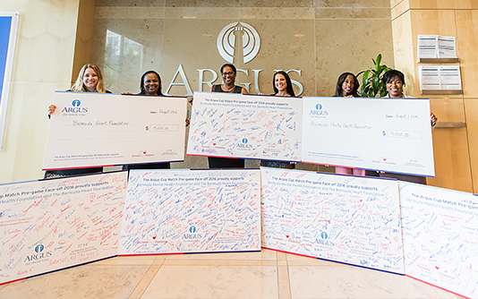 Argus Donates to Bermuda Heart Foundation and Bermuda Mental Health Foundation