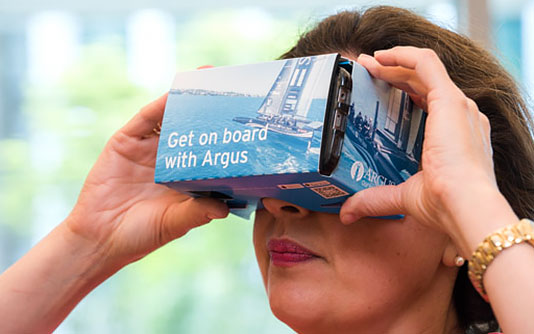 Argus Launches Virtual Reality Videos of  SoftBank Team Japan's America's Cup Journey banner