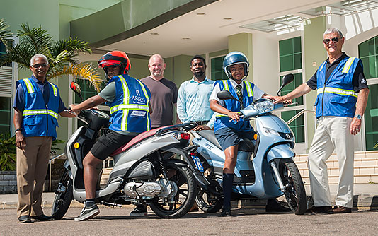 Argus Sponsors Two Motorbikes for Safe Riding Programme banner